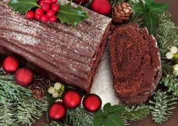 Γιορτινός κορμός σοκολατένιος
