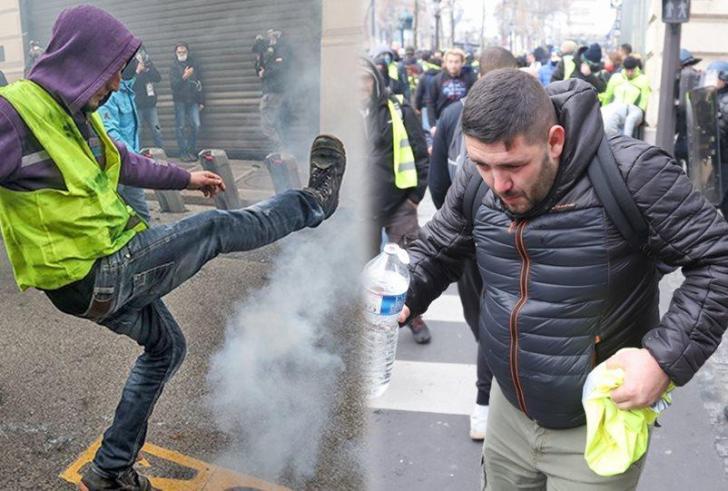 """""""Κίτρινα γιλέκα"""": «Πόλεμος» στο Παρίσι – Άρματα, χημικά και εκατοντάδες συλλήψεις"""