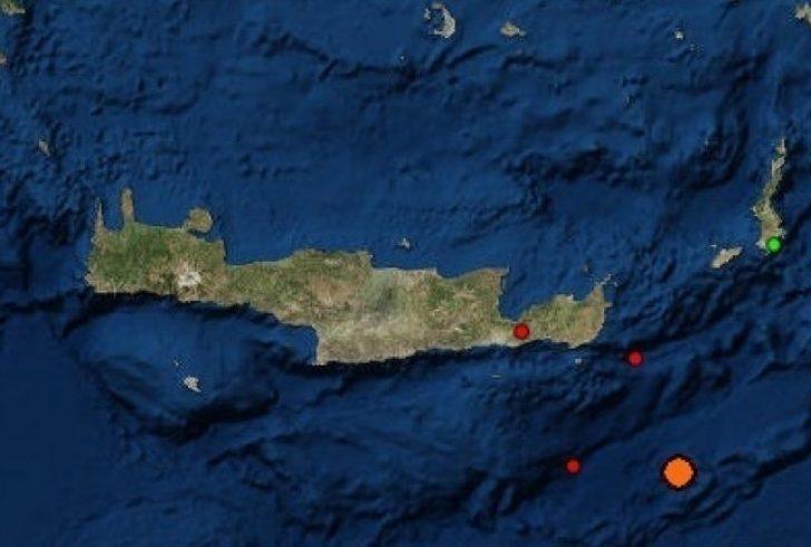 Σεισμός 4,6 Ρίχτερ νοτιοανατολικά της Ιεράπετρας