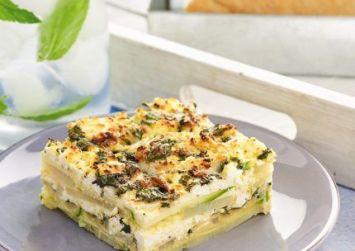 Τούρτα ομελέτας με λαχανικά και μυζήθρα