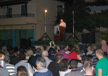 Σε θερμό κλίμα και με πλήθος κόσμου η κεντρική ομιλία του Γιάννη Μαθιουδάκη στο Ζαρό