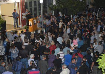 Μεγαλειώδης συγκέντρωση στην ομιλία του Μιχάλη Κοκολάκη στους Αγίους Δέκα