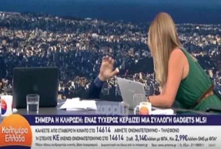 """Γιώργος Παπαδάκης: Έπεσε από την καρέκλα του """"στον αέρα"""" (βίντεο)"""