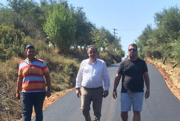 Ολοκληρώθηκε η ασφαλτόστρωση του δρόμου από Σπήλι για Δαριβιανά (φώτο)
