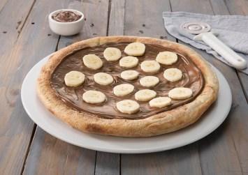 Πίτσα με σοκολάτα και μπανάνα