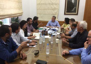 Συζήτησαν με τον περιφερειάρχη για τον Δήμο Γόρτυνας