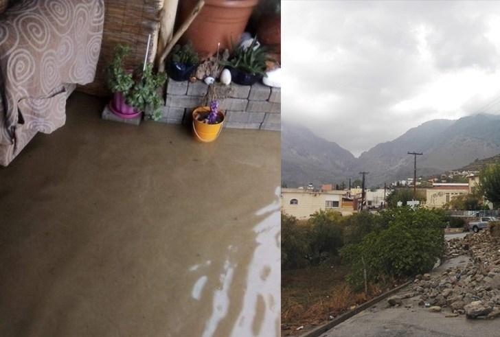 Πλημμύρες και καταστροφές σε σπίτια, στο γήπεδο Ζαρού & στο Σχολείο Βοριζίων (φώτο)