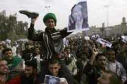 Manifestación en la ciudad santa chiita de Najaf