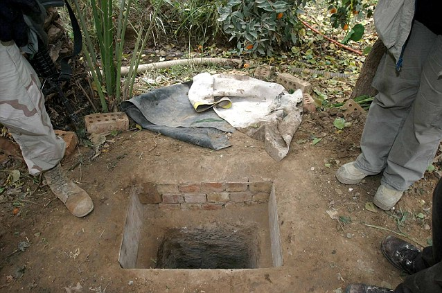 El hueco donde se escondió Sadam Hussein, en sus últimos días
