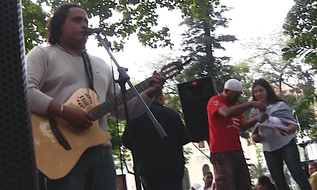 alí Alejandro Primera cantó para el bravo pueblo palestino