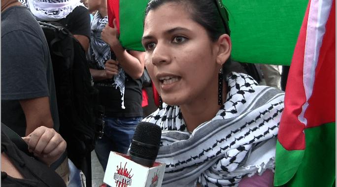 Palestinas manifestando