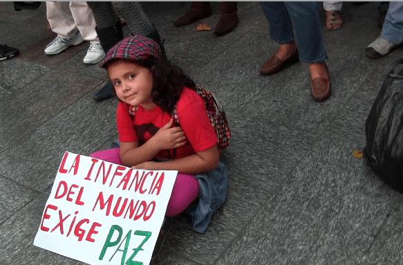 Las niñas también apoyan la causa palestina