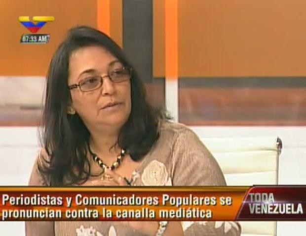 Ana María Hernández, vocera del Movimiento Periodismo Necesario