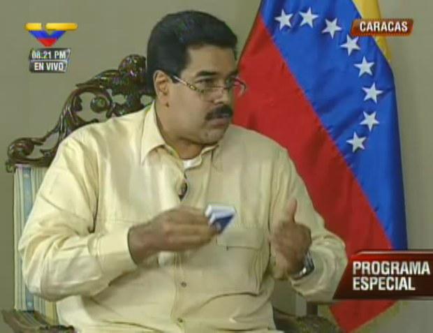 El Vicepresidente Ejecutivo y canciller, Nicolás Maduro