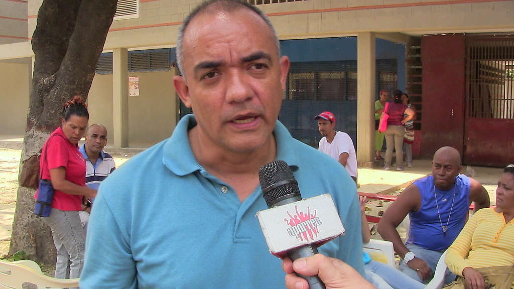 Jorge Hernández del Frente Patriótico y  Movimientos Sociales declaró luego de la rueda de prensa en San Agustín del Sur