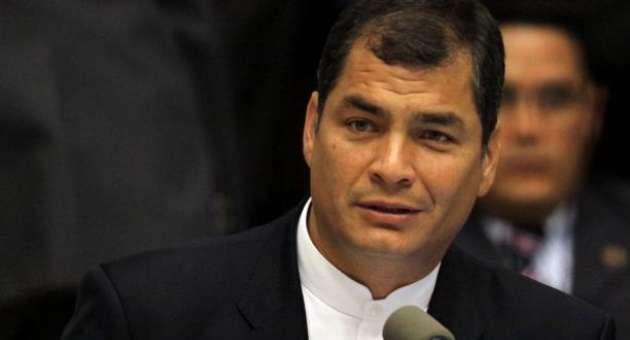 El presidente de Ecuador, Rafael Correa