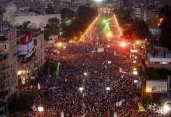 Manifestantes en Egipto se calculan en millones