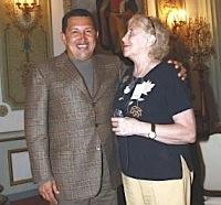 Hugo Chávez y Stella Calloni