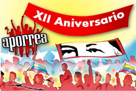 Aporrea lleva ya 12 años de lucha en pro de la comunicación popular y el debate abierto de la izquierda venezolana, en apoyo a la Revolución Bolivariana.