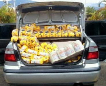 Contrabando de alimentos de la cesta básica del venezolano.