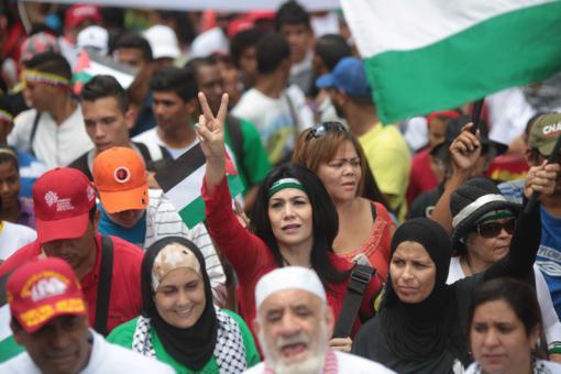 El pueblo venezolano  en solidaridad con el pueblo palestino