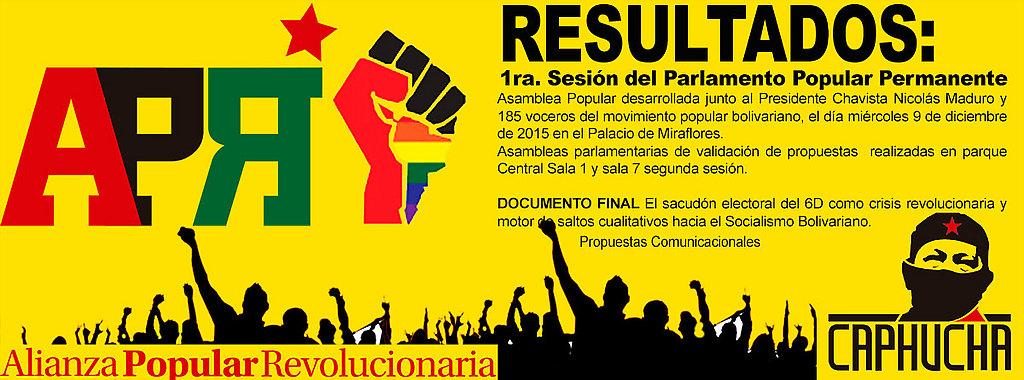 Resultados de la Asamblea Popular con Nicolás Maduo