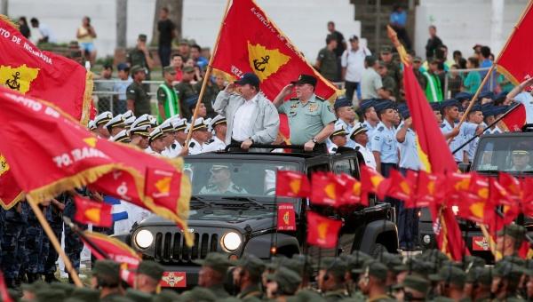Ortega en el aniversario de las Fuerzas Armadas de Nicaragua