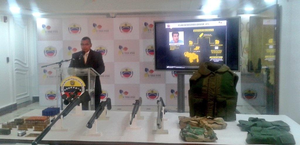El ministro de Interior y Justicia, Néstor Luis Reverol