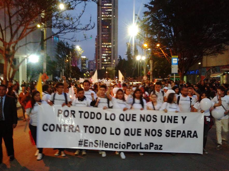 Marcha por la paz en Bogotá, Colombia