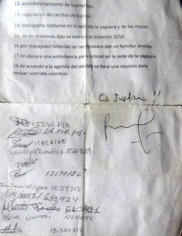 """""""Es Justicia"""" firmó el alcalde y no cumplió"""