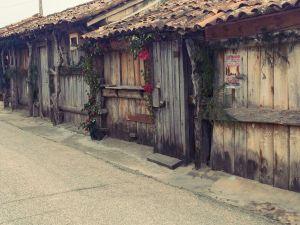 Wooden houses where the salt is kept