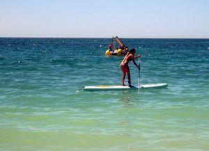 Paddle-boarding in the Algarve