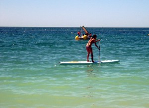 Paddle-boarding in the Algarve