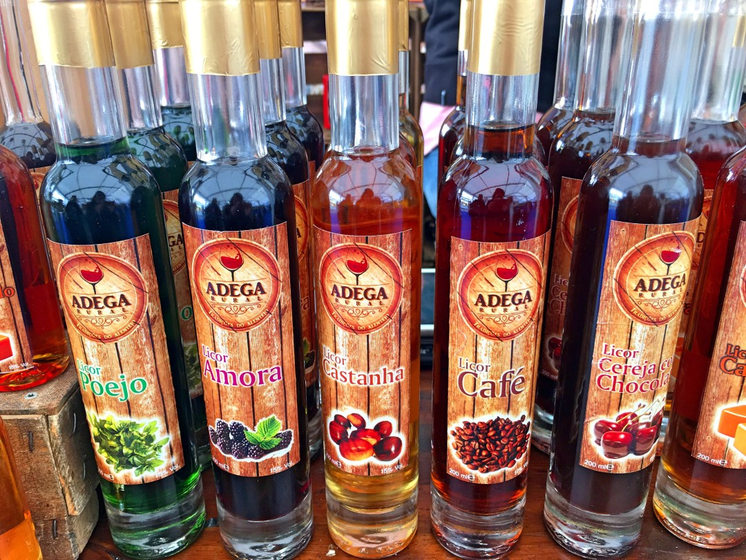 Liqueurs close-up