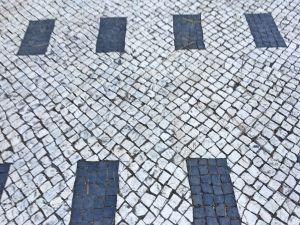 Calcada portuguesa rectagulos