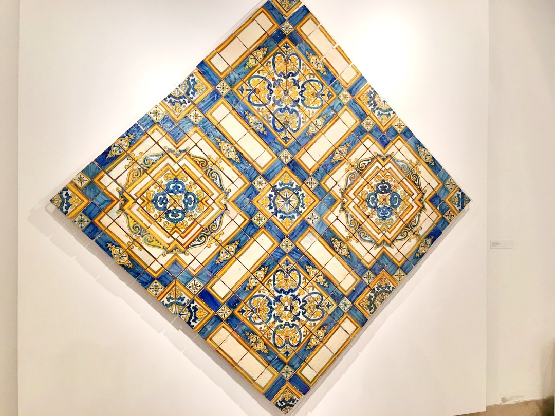 Blue and yellow azulejos