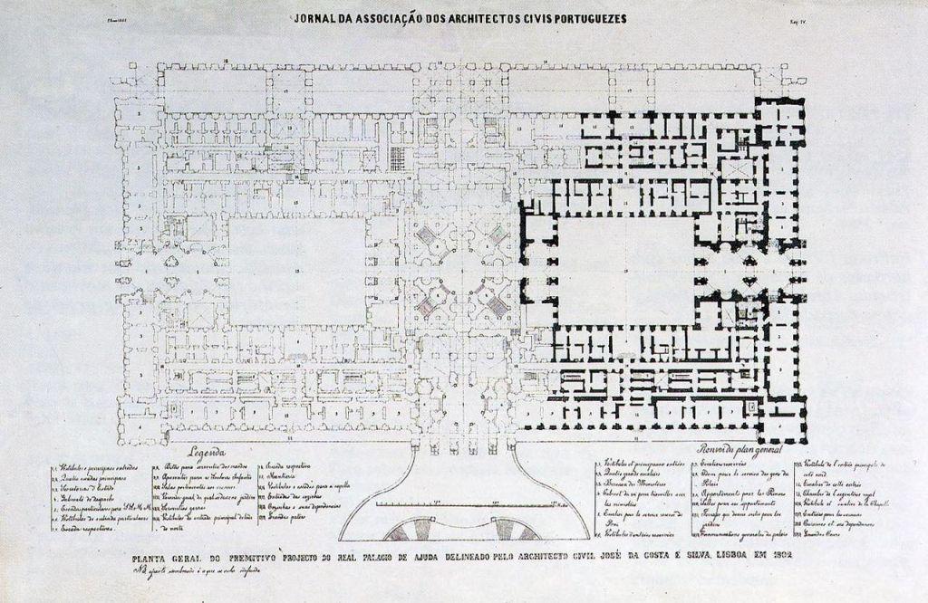 Blueprint Palacio Nacional da Ajuda