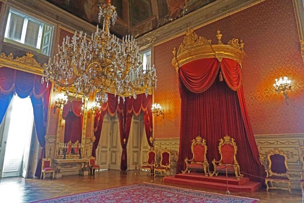 Throne room Palacio da Ajuda