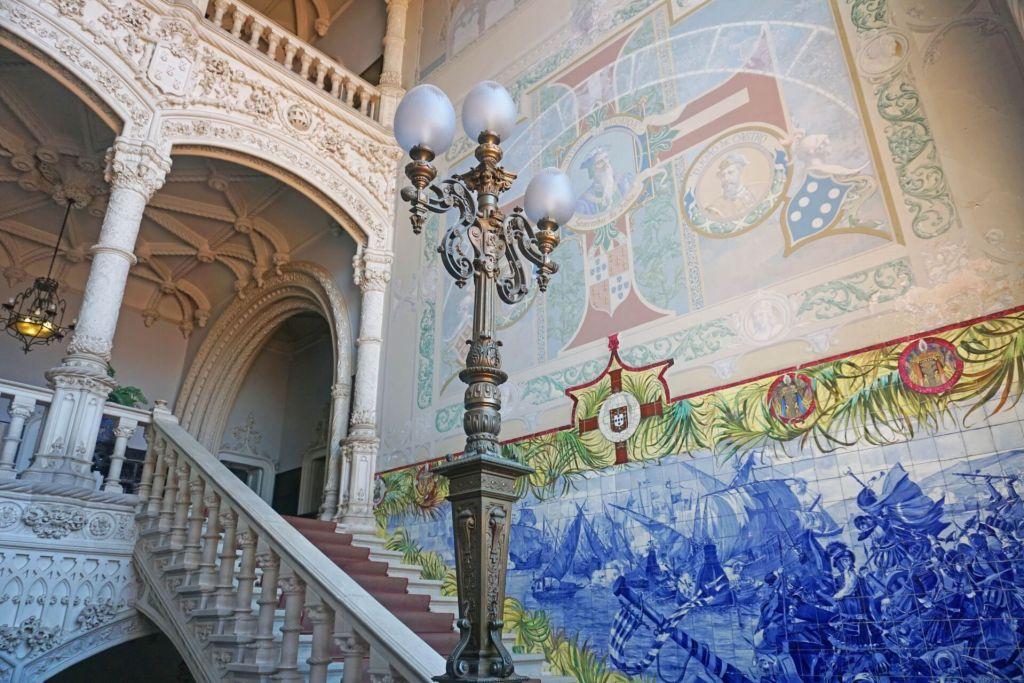 Dans le palais de Buçaco