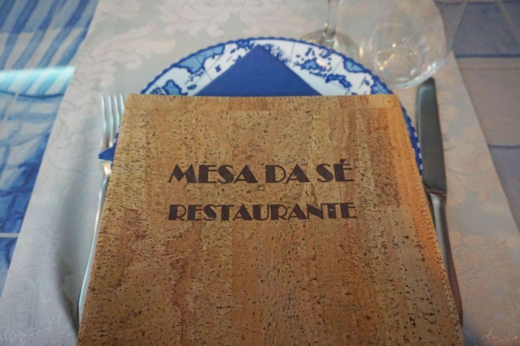 Mesa da Sé menu
