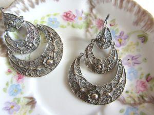 Rosa silver earrings 1
