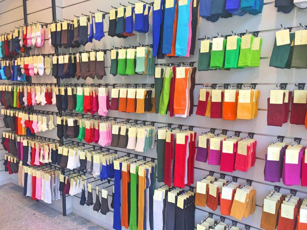 Colorful socks at Pedemeia