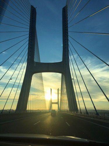 Sails Vasco da Gama bridge