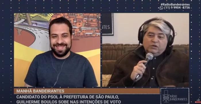 """Datena se rende a Guilherme Boulos, manda Russomano """"se catar"""", elogia Erundina e chega ao trending topics."""