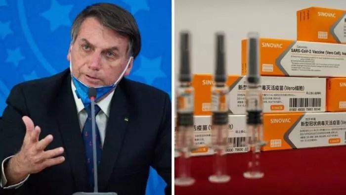 Butantan: Gov. Bolsonaro ignorou oferta 160 milhões de doses da CoronaVac, para julho deste ano.