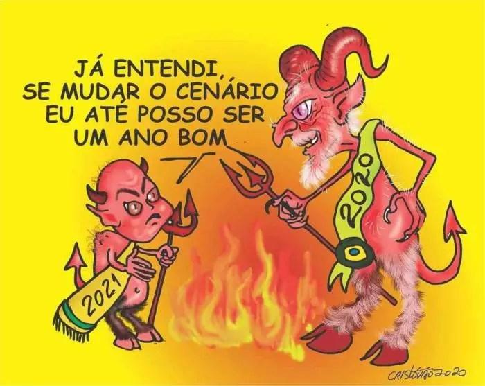 CHARGE: Feliz 2021? Por Cristóvão Villela.