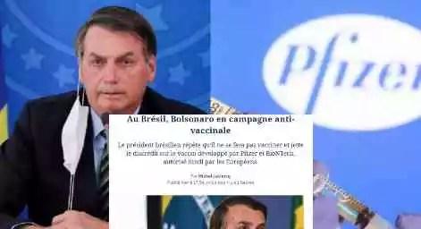 Le Figaro: Campanha de Bolsonaro contra vacina é 'única nas democracias'