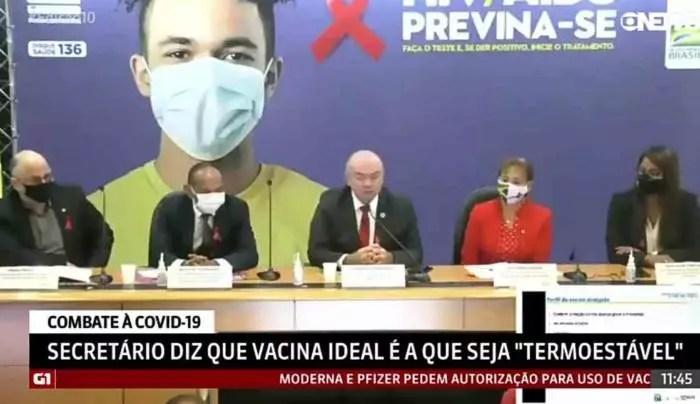 Min. da Saúde divulga as fases do plano de vacinação. Veja quem serão os primeiros vacinados.