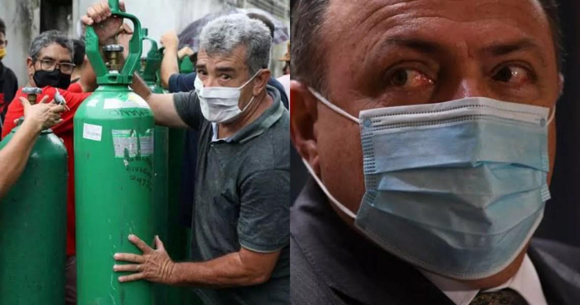 Às vésperas de colapso no AM, equipe de Pazuello pediu 'meio-termo' em reunião sobre possível lockdown