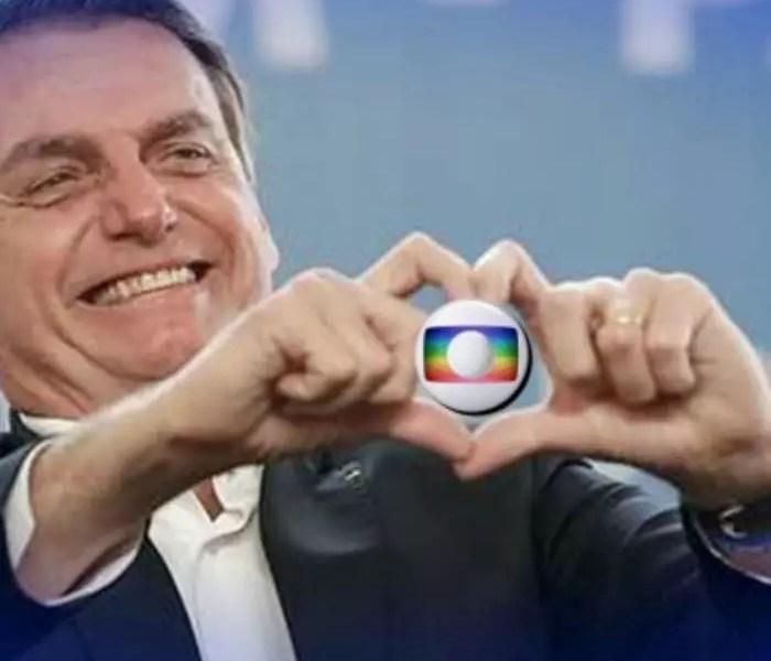 Na tentativa de ficar de pé, Bolsonaro apela para a Globo